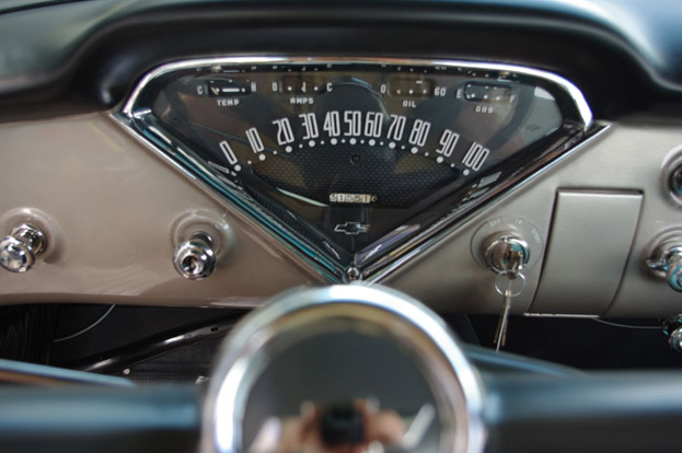 1957 Chevy 3100 speedometer view