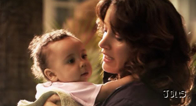 Baby Angelica in Bette's arms