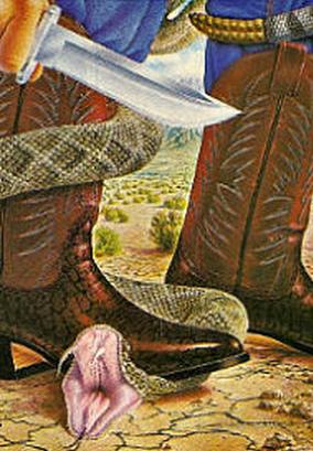 bowie knife rattlesnake