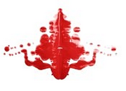 rorschach test pattern Red