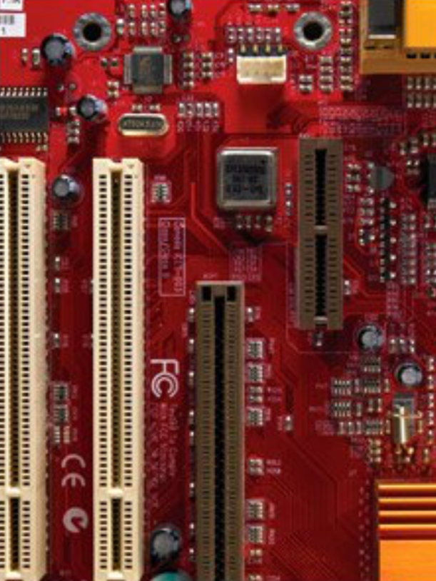 red gizmo circuit board