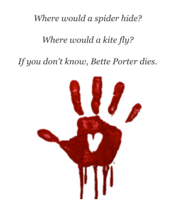 Bloody hand Kidnappers Note